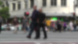 Pedestrians 60fps native slowmotion blurred Stock Video Footage