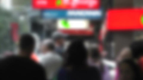 Pedestrians Blurred 60fps native slowmotion 02 Footage