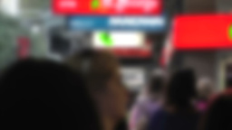 Pedestrians Blurred 60fps native slowmotion 02 Stock Video Footage