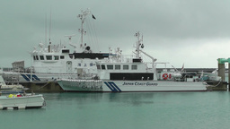 Port in Ishigaki Okinawa 04 japan coast guard Stock Video Footage