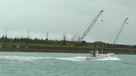 Port in Ishigaki Okinawa 06 vessel 60fps native slowmotion Stock Video Footage