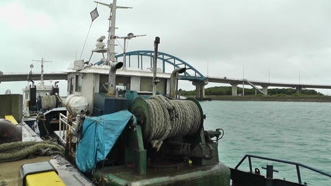 Port in Ishigaki Okinawa 08 vessel Stock Video Footage
