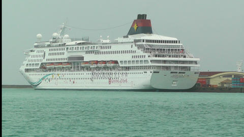 Port in Ishigaki Okinawa 12 cruise ship Footage