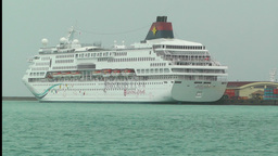 Port in Ishigaki Okinawa 12 cruise ship Stock Video Footage