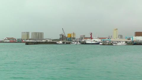 Port in Ishigaki Okinawa 14 Footage