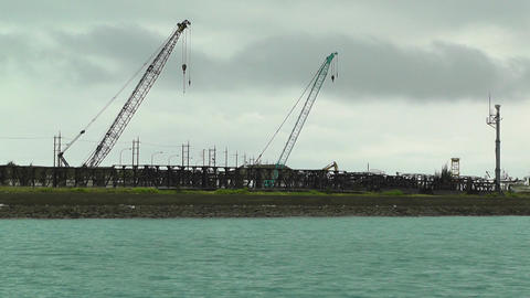 Port in Ishigaki Okinawa 16 industrial Stock Video Footage