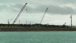 Port in Ishigaki Okinawa 16 industrial Stock Video Footage