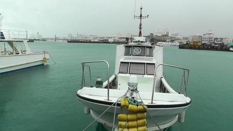 Port in Ishigaki Okinawa 18 rain Stock Video Footage