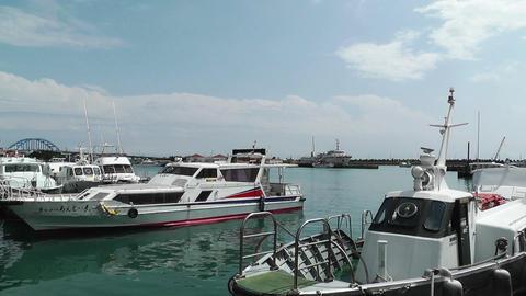 Port in Ishigaki Okinawa 20 Stock Video Footage