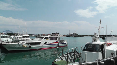 Port in Ishigaki Okinawa 20 Footage