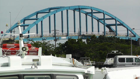 Port in Ishigaki Okinawa 24 heat mirage Stock Video Footage