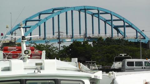 Port in Ishigaki Okinawa 24 heat mirage Footage
