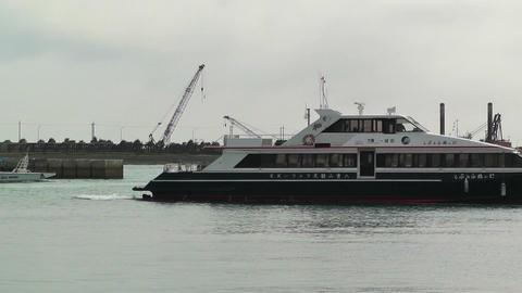 Port in Ishigaki Okinawa 34 vessel Stock Video Footage