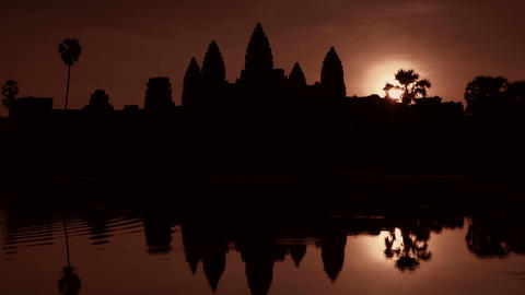 Angkor Wat area with art and temples in Cambodia , Southeast Asia 12 Footage
