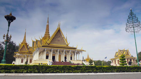 Phnom Penh Cambodia city view monuments Royal Palace Footage