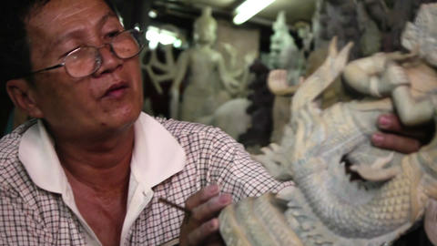 Phnom Penh Cambodia street artist working 01 Footage