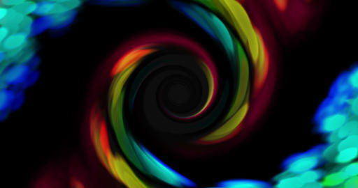 Rainbow Swirl Whirlpool Rotation Multicolored 4k stock footage