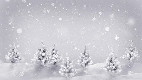 snow covered trees christmas animation loop 4k (4096x2304) Animation