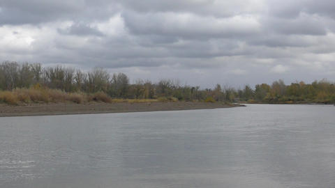 Ural River in autumn Footage