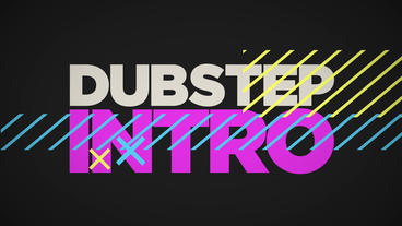 Dubstep Text Titles Sound Design Retro Color Animation Intro stock footage