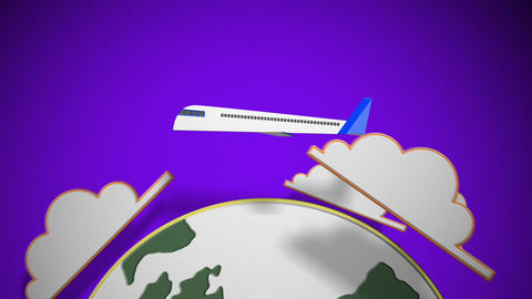 Paper Plane Travel stock footage