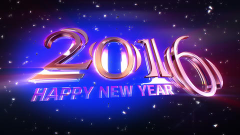 New Year 2016 Animation 4K stock footage