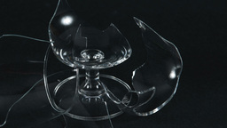 Broken Wine Glass Showing Details Footage