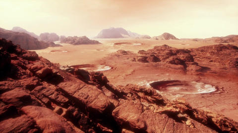 Martian Landscape Two Stock Video Footage