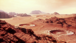 Martian Landscape Two stock footage