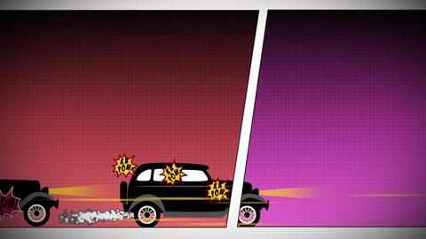Comics Car Chase Animation