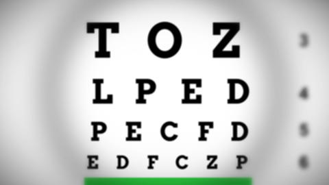 Eye Test stock footage