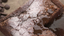 Closeup Of French Chocolate Cake stock footage
