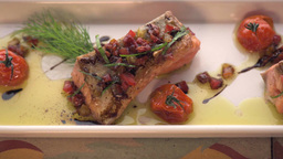 Closeup Of Homemade Grilled Salmon Fillet stock footage