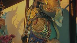 Buddhist Idol In Longhua Temple, Shanghai stock footage