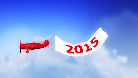 2015 Plane in Clouds (Loop) Animation