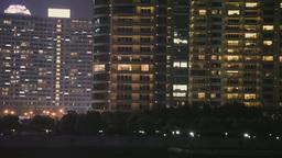 Shanghai Modern Buildings Viewed From Huangpu River stock footage