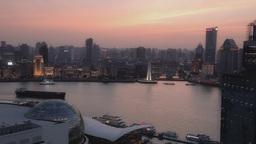 Shanghai At Sunset stock footage