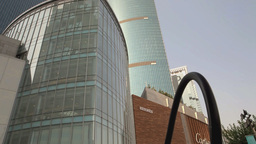 Trade Center In Shanghai stock footage