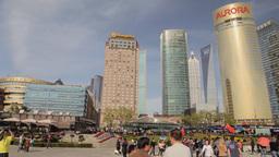 Shanghai Pudong City Scene stock footage