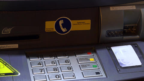 ATM. Keyboard And Controls. 4K stock footage