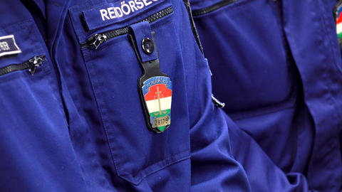 Police Hungary. Policing. 4K stock footage