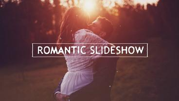 Romantic Slideshow stock footage