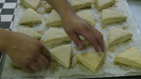 german baker prepare special sesame roll buns 11697 Live Action