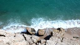 Sea Waves On The Coast stock footage
