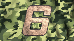 Element Countdown Military Bronse stock footage