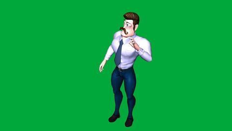 Mafia Boss Man, Standing and Talking: Looping + Matte Animation