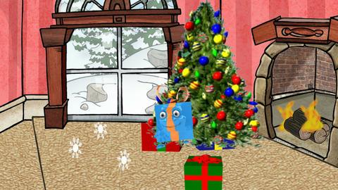 Dancing Christmas Present: Looping stock footage