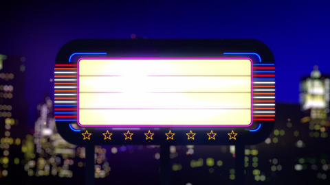 Neon Sign Stock Video Footage