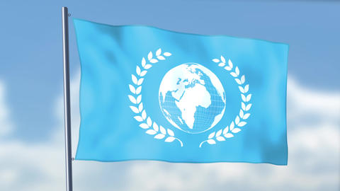 World Peace Flag Animation
