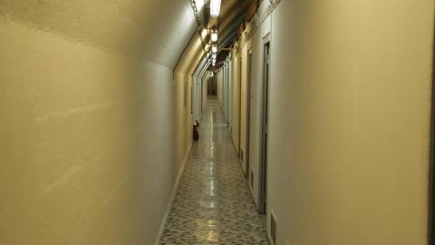 Underground bunker from cold war Filmmaterial